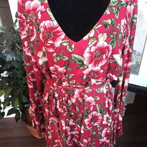 Forever 21 Floral Print Bell Sleeve Summer…